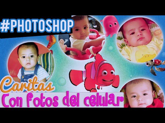 """Cuadros """"Caritas"""" de Bebes con Fotos del celular ♥ Photoshop ..."""