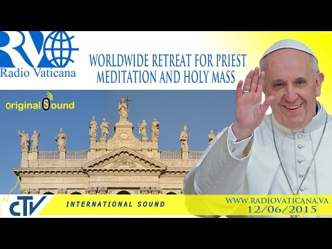 Pope Francis at world retreat of priests 2015