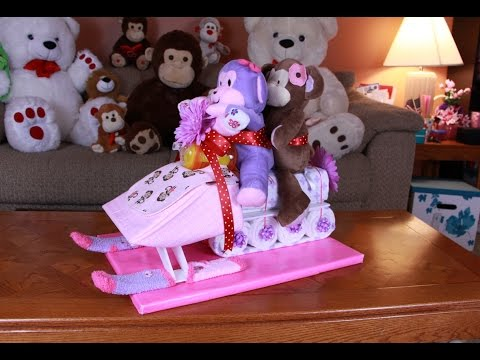 Snowmobile Diaper Cake (How To Make)