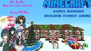 Minecraft - Merry Christmas - Santa Hotel Mansion - Builder by : Family Gaming VN Anime