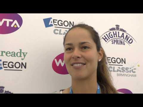 Ana Ivanovic on AEGON Classic and Wimbledon