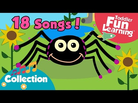 Incy Wincy Spider and more Nursery Rhymes for children!   Children Songs   Toddler Fun Learning