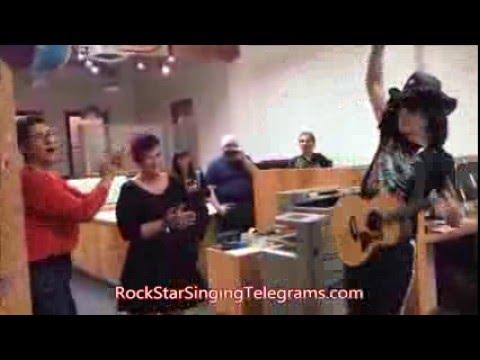Freedom gets a Rockstar Singing Telegram | Los Angeles