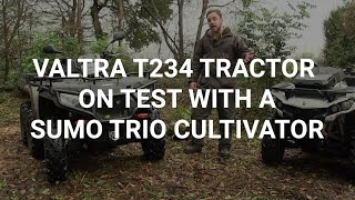 Valtra T234 tractor on test with a Sumo Trio cultivator, April 2015