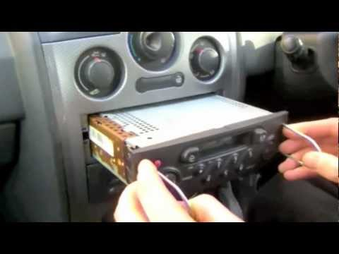 How to remove radio and input code - Renault Megane