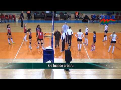 Волейболен екшън в женската лига на Румъния (ВИДЕО)