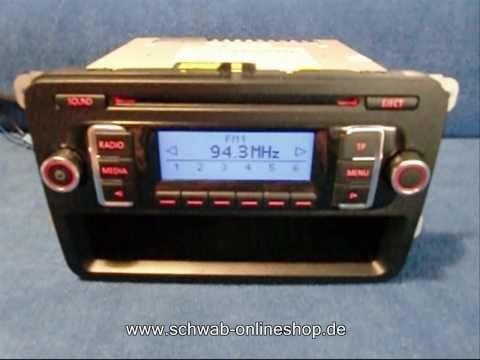 VW RCD 210 MP3 / Radio Autoradio carradio car 1K0035156BX / http://www.schwab-onlineshop.de