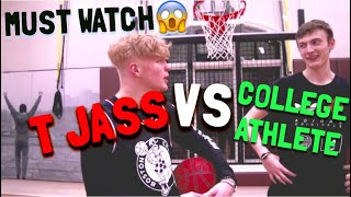 INTENSE Basketball Challenge VS College Athlete!