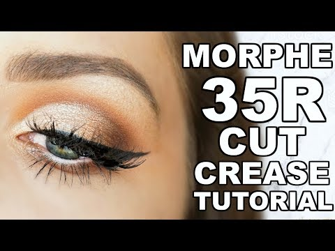 MORPHE 35R PALETTE   CUT CREASE EYE SHADOW TUTORIAL