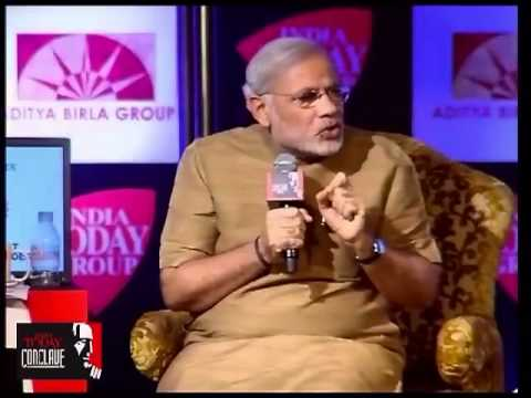 Q&A session with Narendra Modi at India Today Conclave 2013