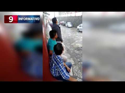 Cae rayo en Cuetzalan 20-06-2017