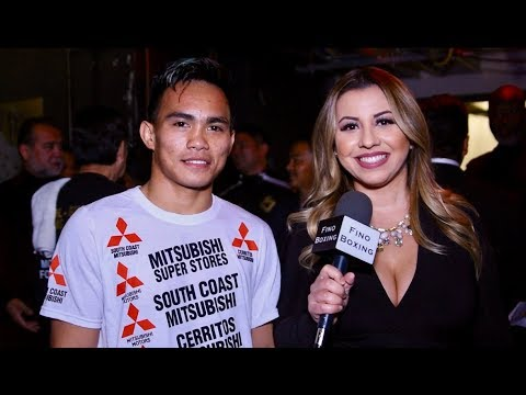 Romero Duno moments after his first round victory on Matthysse & Kiram Card