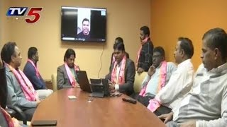 NRI TRS Members Starts Phone Call Campaign in New Jersey | #TelanganaElections2018