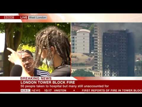 Grenfell Tower resident speaks of social cleansing