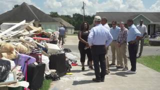 """You're not alone on this."" - President Obama visits Baton Rouge"