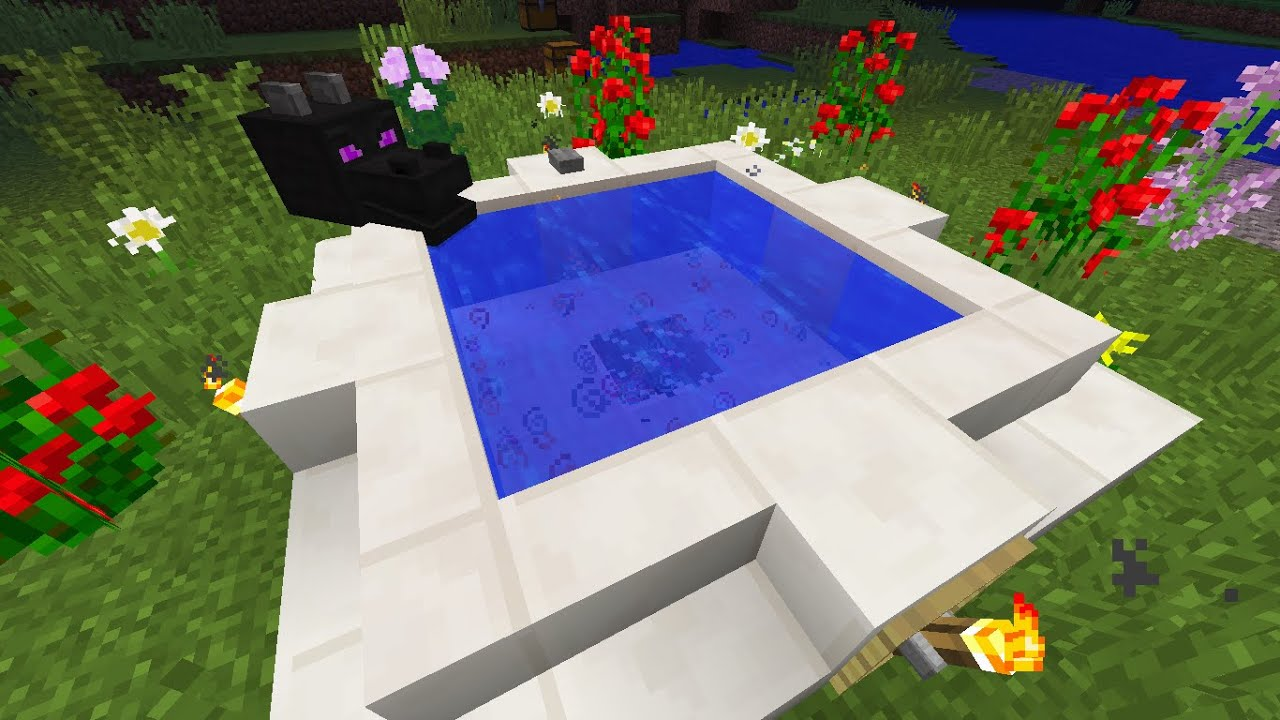 MINECRAFT: HOW TO MAKE A JACUZZI WITH BUBBLES ? - YouTube