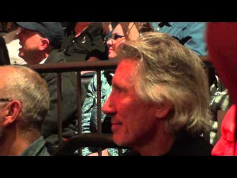 Eric Clapton and Keith Richards - Roger Waters spectator - Crossroads 2013 - April 13, 2013