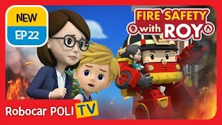 🔥Fire safety with Roy | EP22 | The School Fire Drill. | Robocar POLI | Kids animation