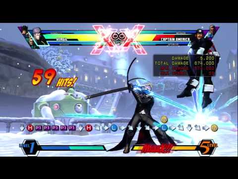 UMVC3 BR - Vergil 1 Million + Damage Starting With 1 Meter By Kain