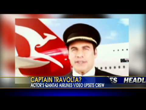 Travolta's Safety Video Upsets Qantas Airlines Crew