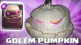 GOLEM PUMPKIN SPEED BUILD!! (HAPPY HALLOWEEN!!)