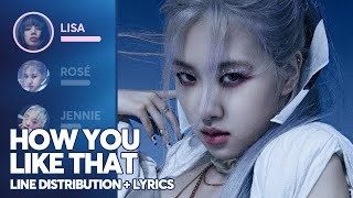 BLACKPINK - How You Like That (Line Distribution + Lyrics Color Coded) [Updated]