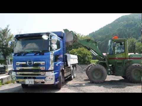 女性ダンプカーオペ(トラックと重機作業)動画Vol.①Women truck drivers.