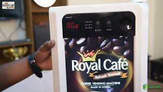 Royal Cafe: How to set up Royal LED-502 coffee vending machine?