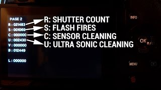 HOW TO CHECK SHUTTER COUNT ON OLYMPUS OMD Cameras