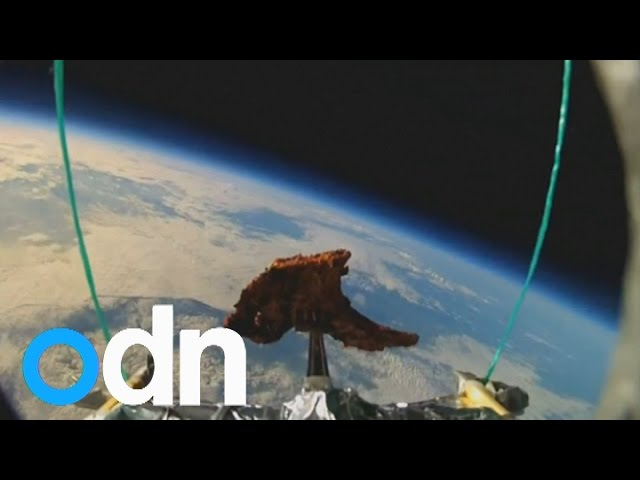 Watch amazing GoPro footage of Tandoori lamb chop in space