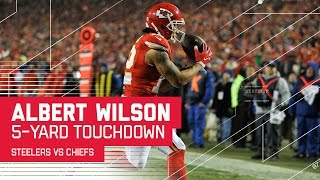 Travis Kelce Catch Sets Up Albert Wilson TD Catch   Steelers vs. Chiefs   NFL Divisional Highlights