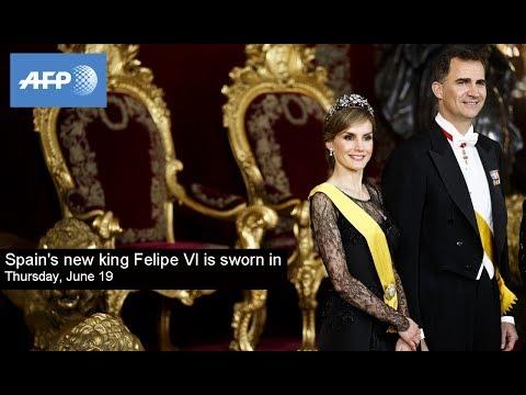 Spain's new king Felipe VI is sworn in - Thursday June 19, 2014