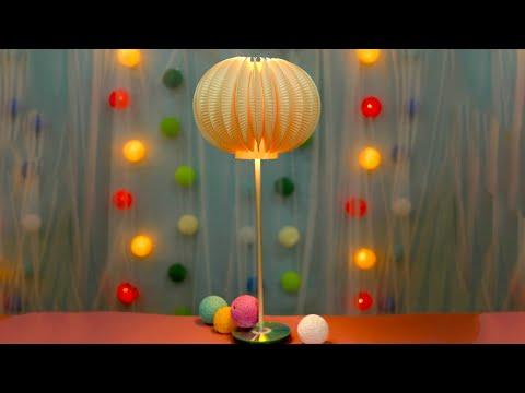 יצירת מנורה מצלחות נייר