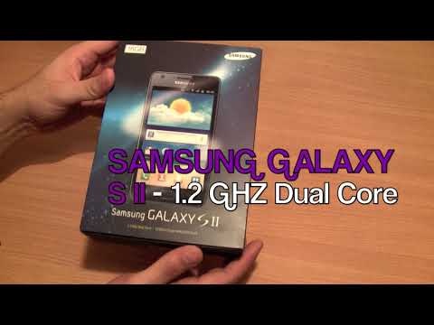 Samsung Galaxy S2 S II Unboxing and Hand On : feat iPhone 4