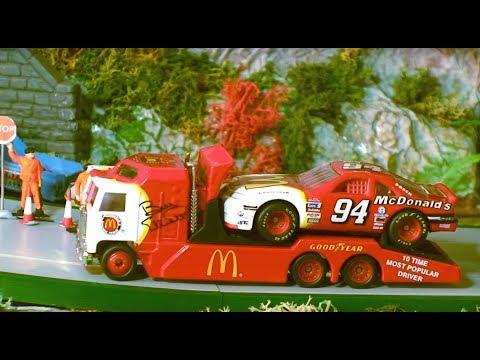 Toy Trucks -Diecast Trucks Great Matchbox Convoy Trucks - NASCAR Race Transporters