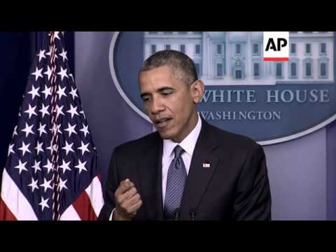 US President Obama on continuing conflict in Gaza and Ukraine