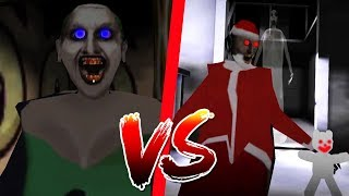 Granny Is Joker Vs Granny Is Santa funny moments in Granny The Horror Game |Walkthrogh