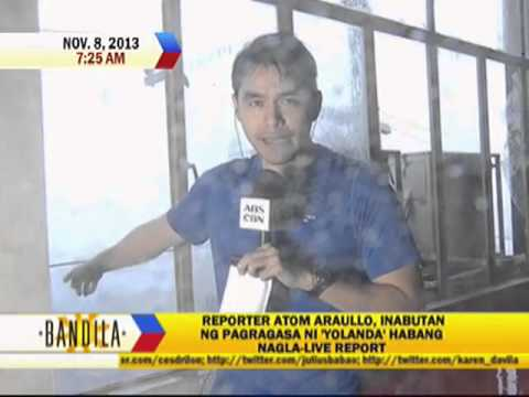 ABS-CBN News team survives super typhoon