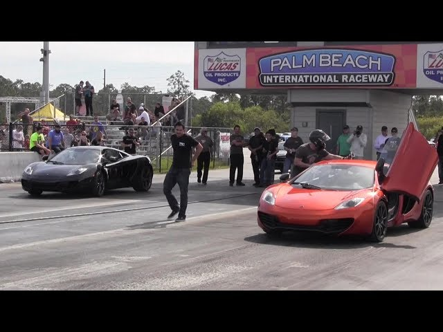659 HP Evoms McLaren vs Stock McLaren MP-12C - 1/4 mile Drag Race Video - StreetCarDrags.com