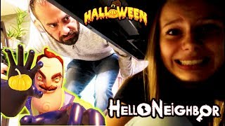 Hello Neighbor in REAL LIFE Halloween Pumpkin CHASE! | Hello Neighbor Hide and Seek!