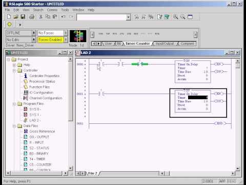 RSLogix 500 Flasher logic