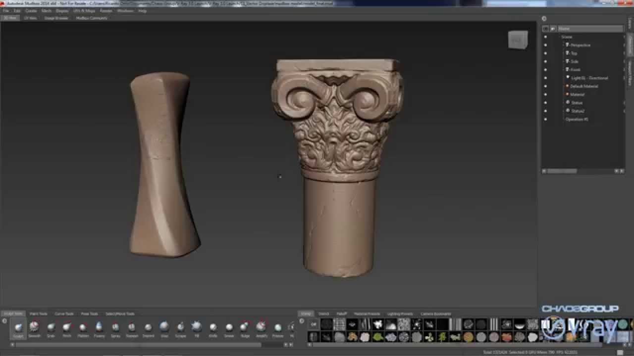 So i have this rock i modeled in zbrush and have exported a normal and displacement