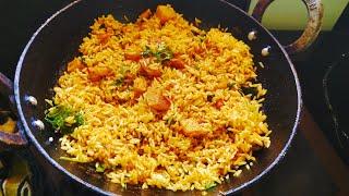 Aloo Fried Rice / how to make aloo fried rice / potato fried rice / urulai khizangu fried rice