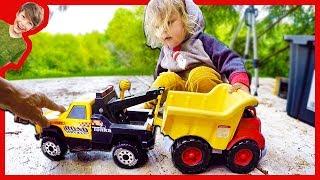 Tow Trucks for Children Towing Dump Truck