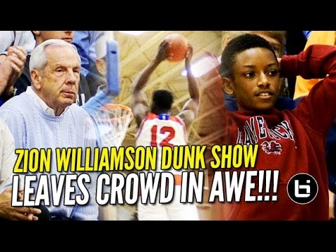 Zion Williamson Dunk Show Leaves Crowd in Awe! 35/8 in Front of Roy Williams!