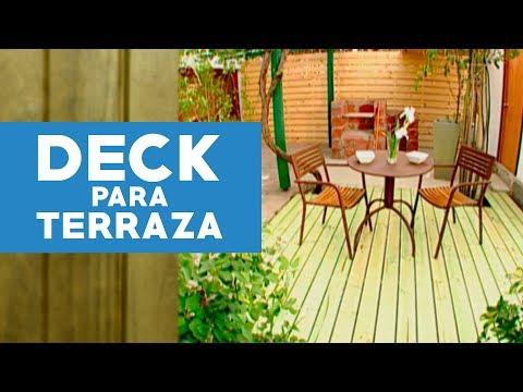C mo hacer un deck para la terraza youtube - Antejardines pequenos fotos ...