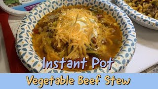 INSTANT POT VEGETABLE BEEF STEW | Cooking In A Truck