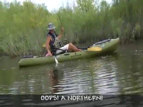 Kayak bass fishing w kayakjak youtube for Bass fishing kayak