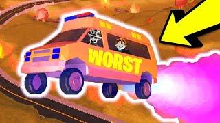 The WORST Vehicle in Jailbreak... 🚑 Vehicle Speed Test (Roblox Jailbreak Volcano Erupting Update)