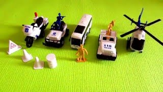 Street Vehicles For Kids | Toy Motorcycles | Police Car for Kids | Toy Cars for Toddlers